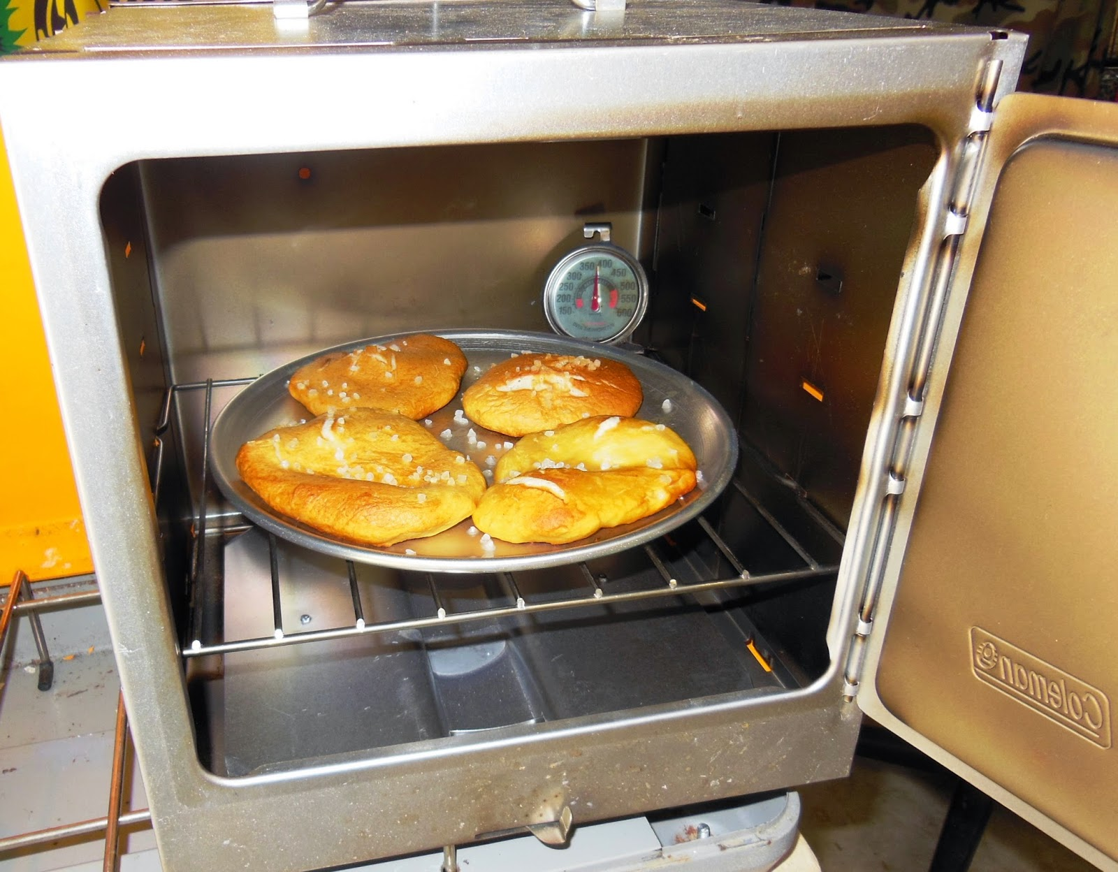 Living Prepared Pizza Pan To Use In The Coleman Camp