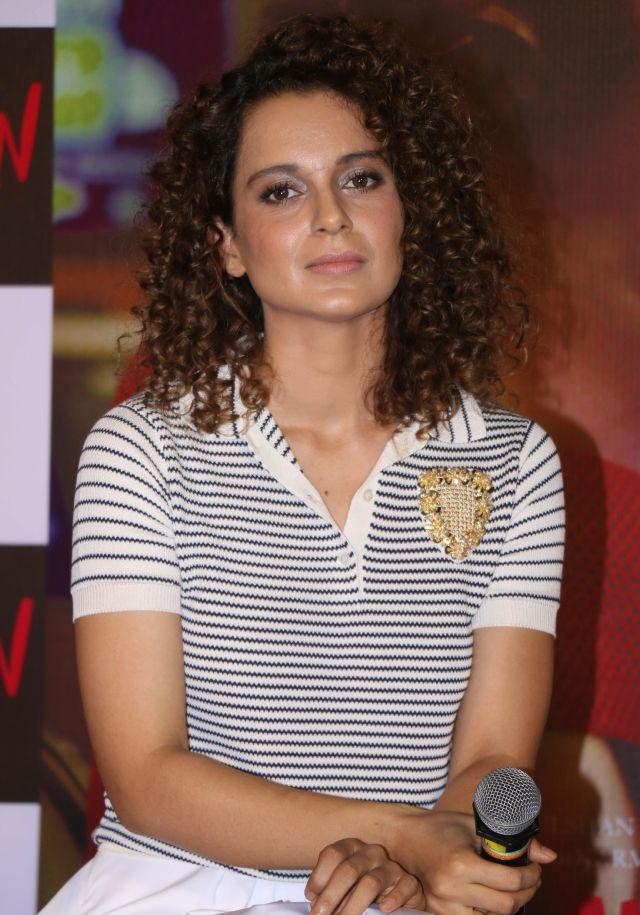 Kangana Ranaut Snapped at Simran Hindi Movie Trailer Launch