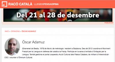 Óscar Adamuz, moviment franjolí, franja, Gramenet de Besòs, Badalona