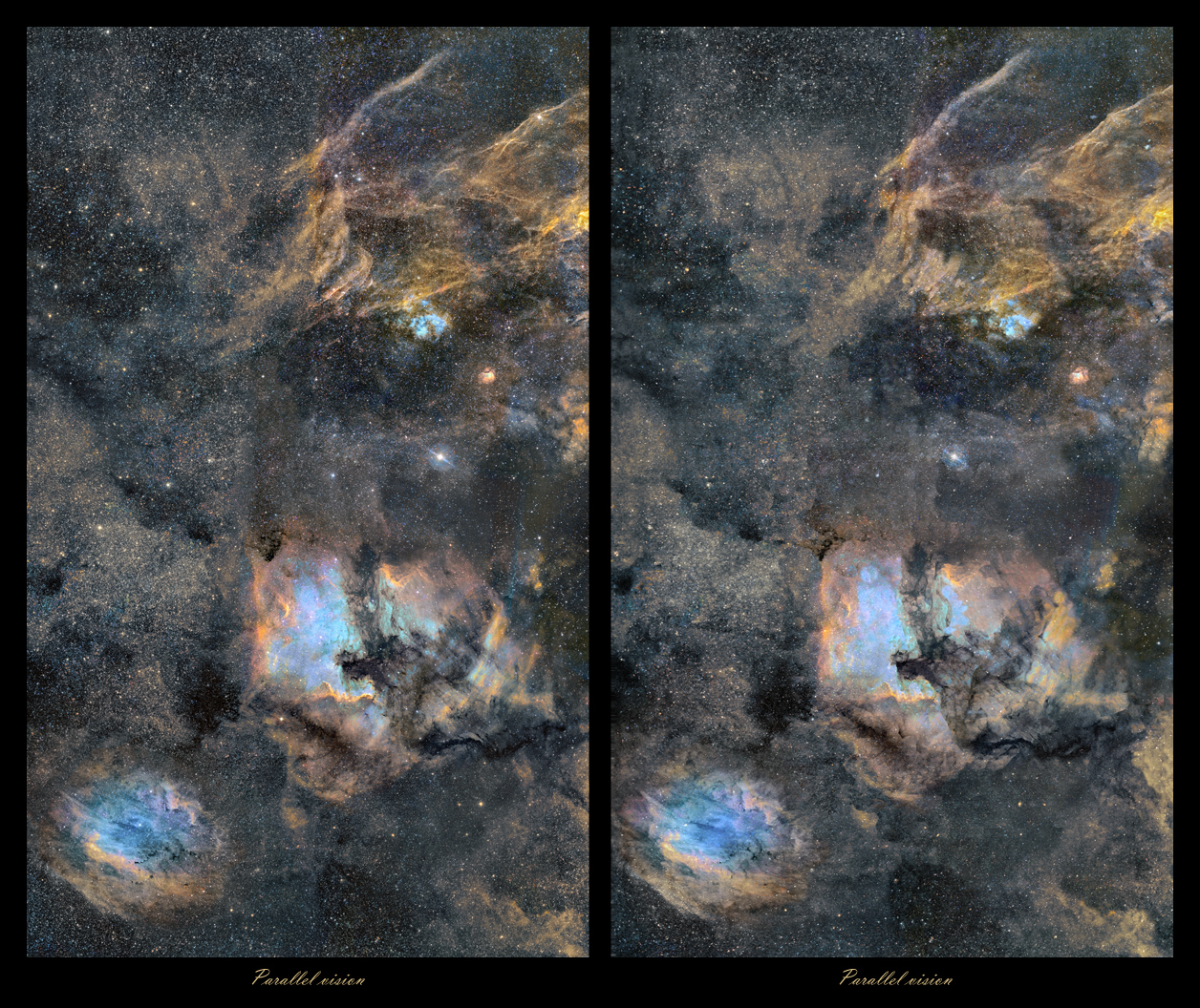 Astro Anarchy Cygnus Mosaic As A Stereo Pair 3d