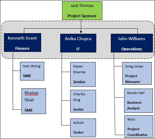 Project Team Structure, Project Team Structure Template, project management team structure