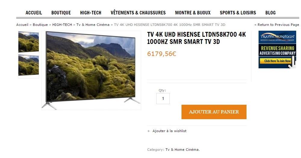 infos technos informatique vid os hifi photos janvier 2016 achat boulanger tv 4k. Black Bedroom Furniture Sets. Home Design Ideas