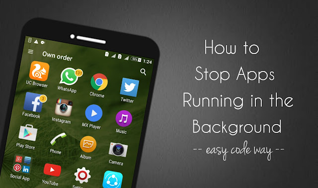 Force stop Android apps