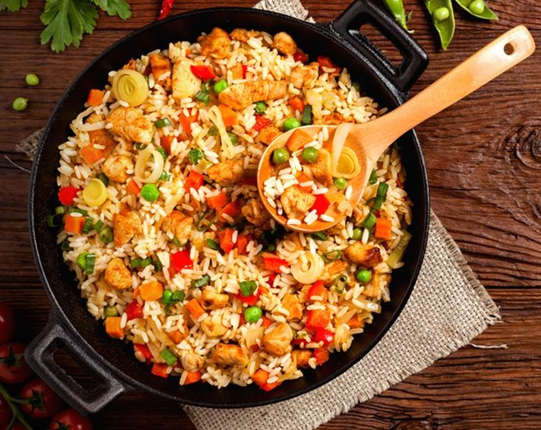 Easy Chicken and Vegetable Fried Rice is so simple to make at home, and is way better, healthier and cheaper than take-out!