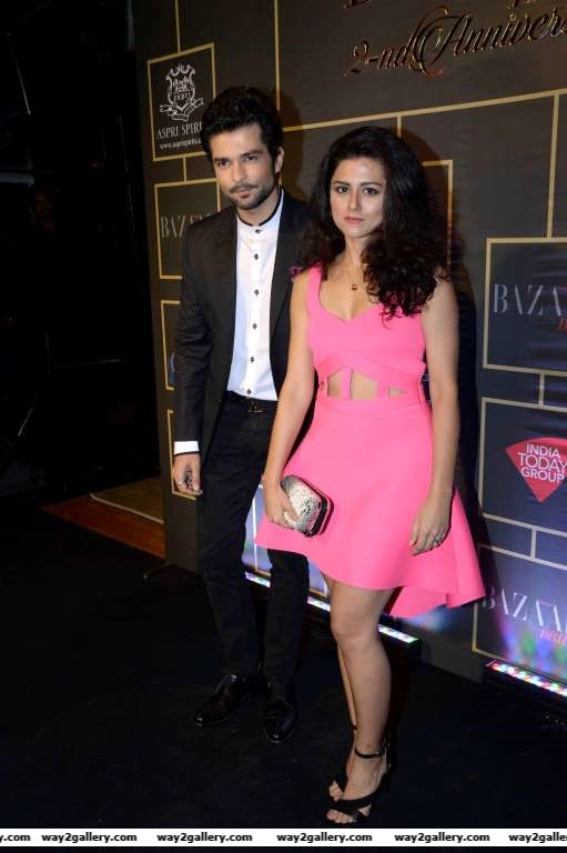 Riddhi Dogra and Raqesh Vashisth were among the celebrities at Harpers Bazaar Bride nd anniversary bash