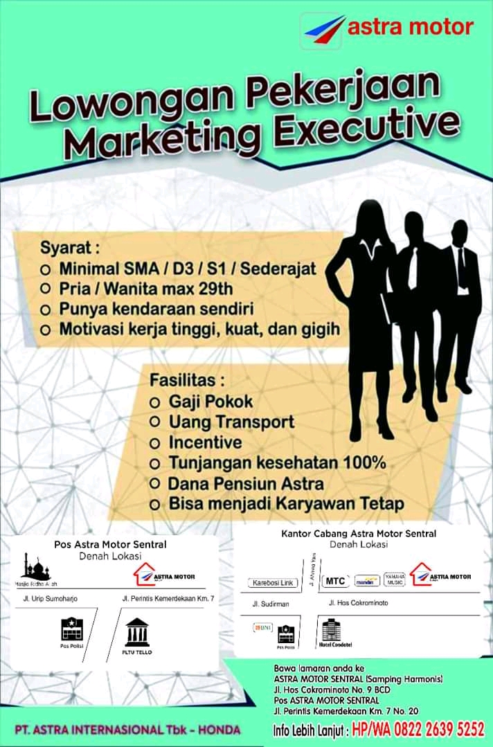 Terminalhrd Loker Sma Marketing Executive Astra Motor Makassar