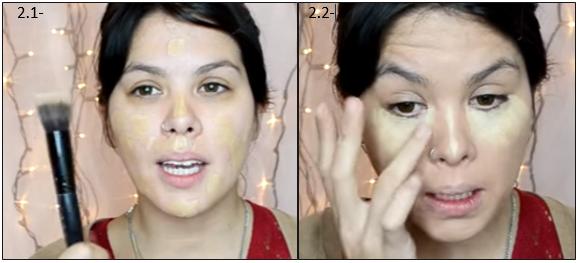 Paso 2: aplicación de maquillaje