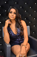 Sanjana looks happy in sparkling short Deep neck Purple Gown ~  Exclusive 78.JPG