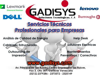 GADISYS Soluciones Tecnologicas C.A en Paginas Amarillas tu guia Comercial