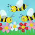 kids paper bees crafts wall decore