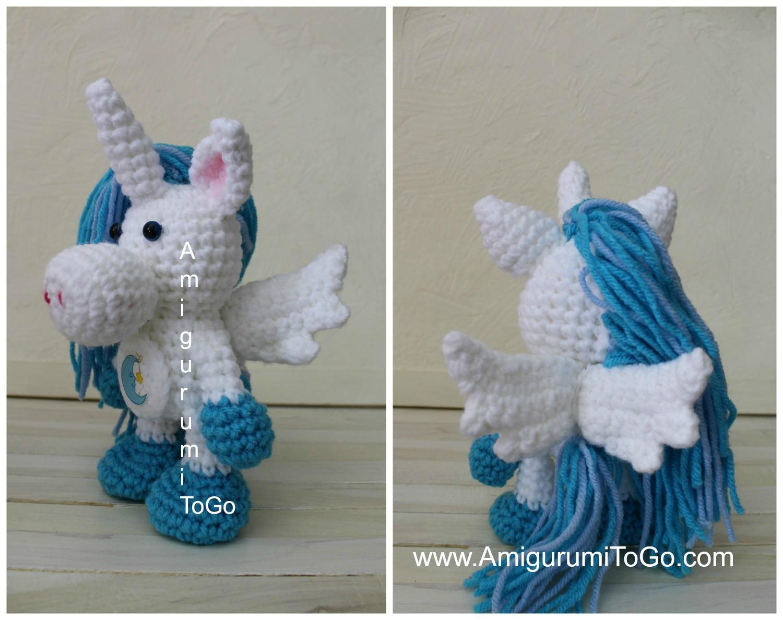 Winged unicorn pattern (free) – Amigurumi Designs by Dani | 1188x1500