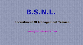 Recruitment Of Management Trainee IN BSNL
