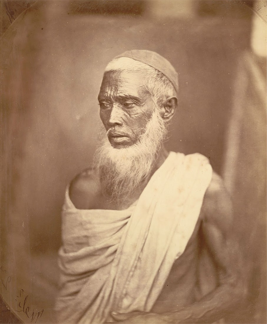 Portrait of an Elderly Muslim Man, Wearing a Skull-Cap - Eastern Bengal 1860's