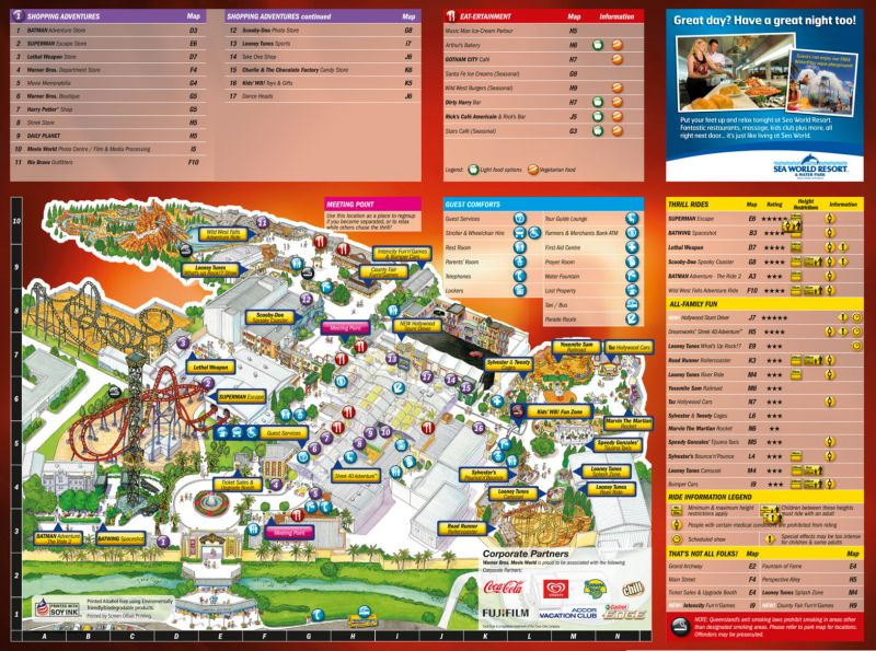 Movie World Australia Map 84919 Lineblog