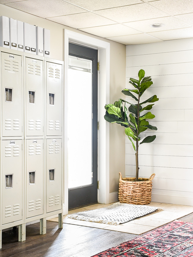Lockers in a home office
