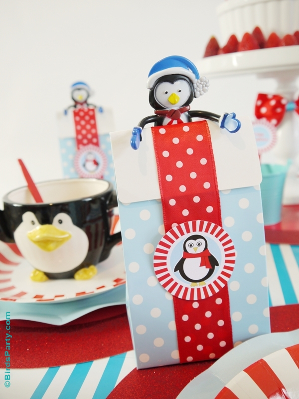 North Pole Breakfast Party favors - BirdsParty.com