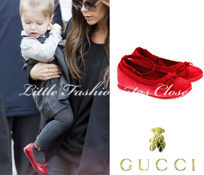 003f1baeb Harper was wearing Wool Duffle Coat in Military Red by Burberry,  Houndstooth Wool Dress FW'12 by Marie Chantal and Ankle Strap Ballerina Shoes  in Red FW'12 ...