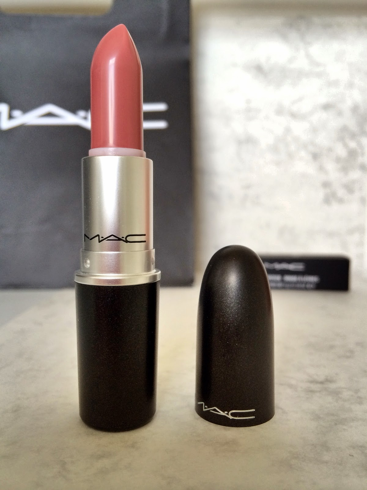 MAC lipstick Faux makeup