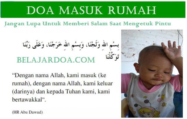 Video Bacaan Doa Masuk Rumah Berpenghuni Sesuai Sunnah Nabi Bahasa Arab Terjemahan Arti Indonesia