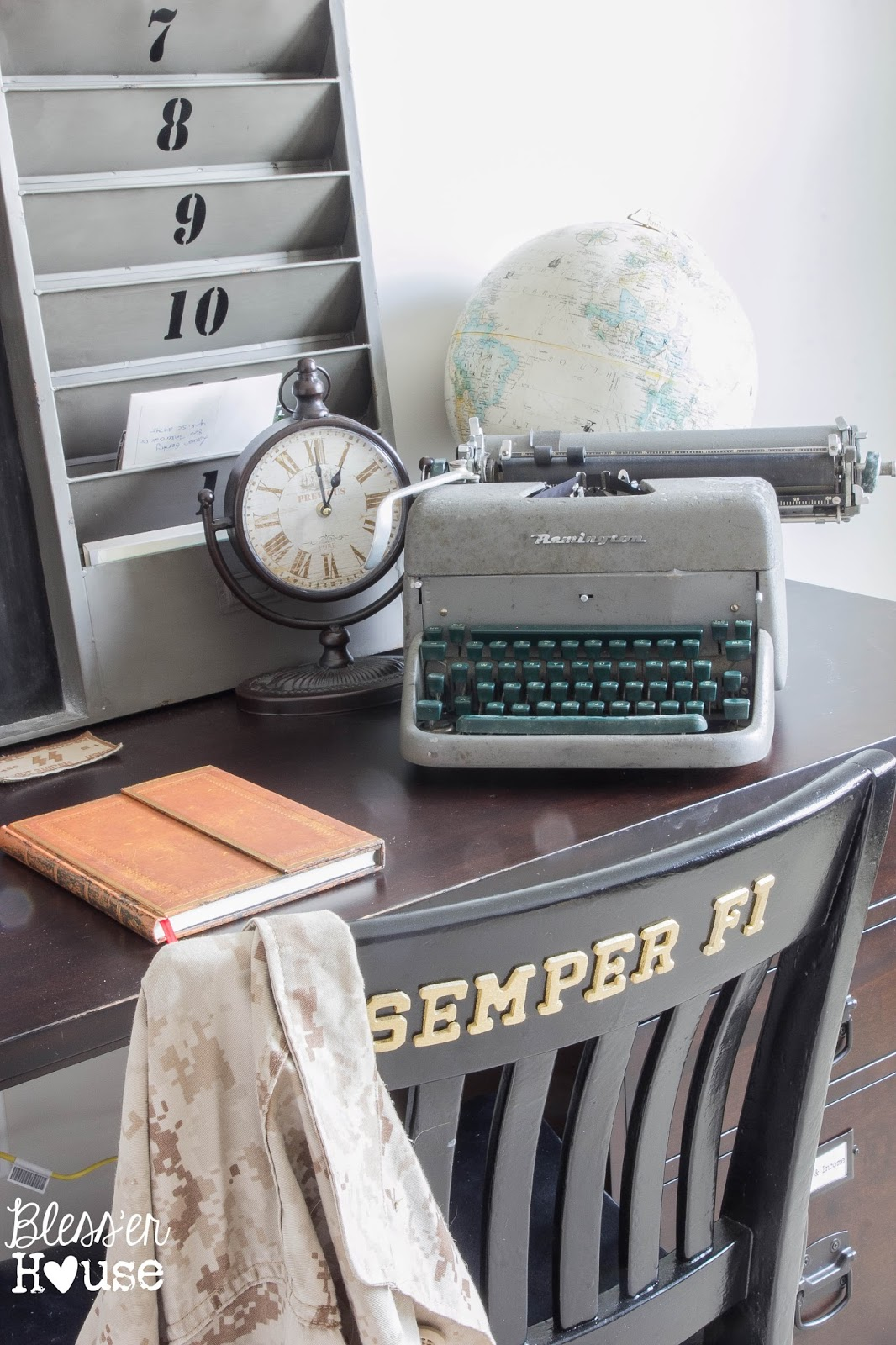 Vintage Inspired Office-Bless'er House-How I Found My Style Sundays- From My Front Porch To Yours