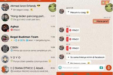 BBM Mod Tema Whatsapp v3.0.1.25 Apk (iMessenger)