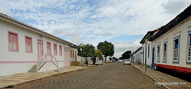 Casas coloniais no Centro Histórico de Pirenópolis, Goiás