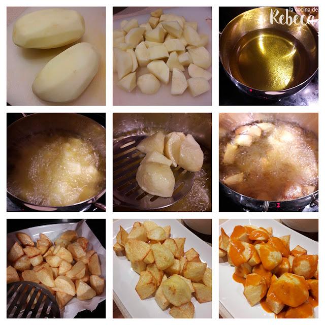 Patatas bravas: cómo freírlas y emplatar