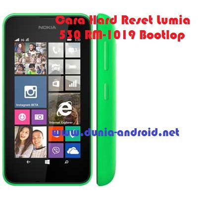 Cara Hard Reset Lumia 530 RM-1019 Bootlop