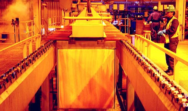 Exportación de cobre