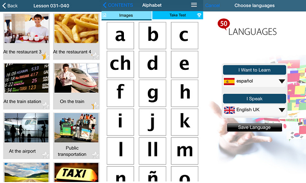 تطبيق لتعلم 50 لغة مختلفة بالصوت والصورة