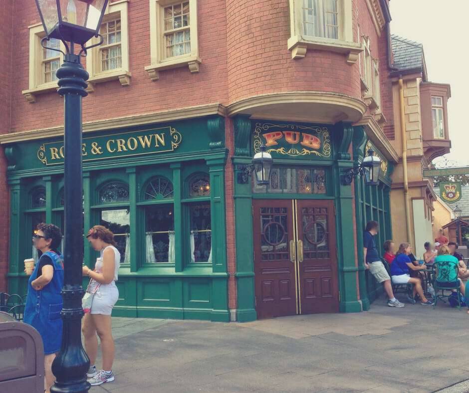 Rose & Crown pub in UK pavilion in Epcot, Walt Disney World - great for an evening out without the kids.