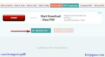 cara kompres file pdf berupa gambar kerjapns.com
