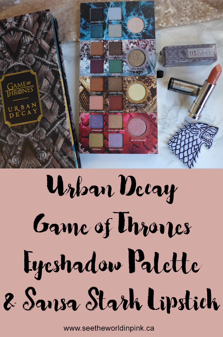 Urban Decay Game of Thrones Eyeshadow Palette and Sansa Stark Vice Lipstick