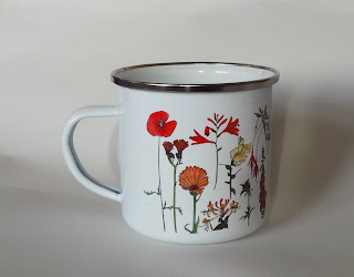 Enamel Flower mug by Alice Draws The Line