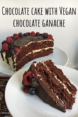 Chocolate Cake with Vegan Chocolate Ganache