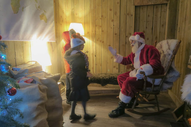 Meeting Father Christmas at Lotherton