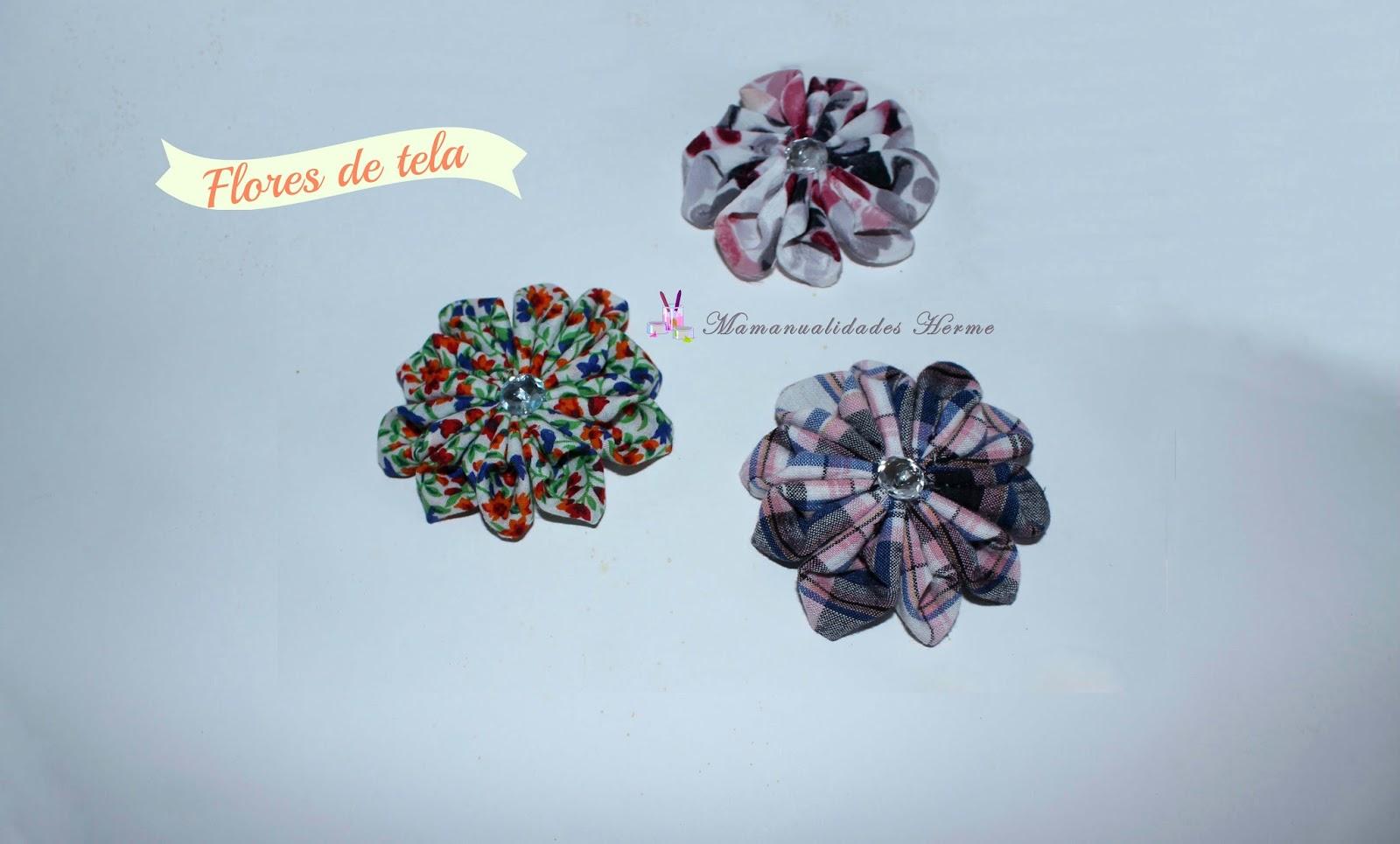 Manualidades herme como hacer flores de tela - Como hacer manualidades con tela ...
