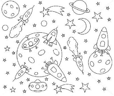 Imagini De Colorat Cu Rachete Pentru Copiii De Gradinita