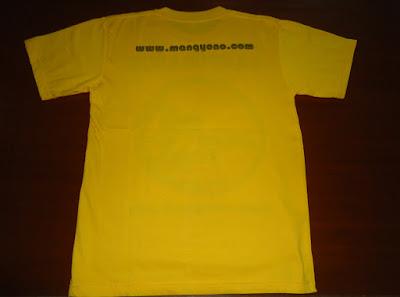 FOTO 2: Tampak belakang kaos www.mangyono.com ( Kuning )