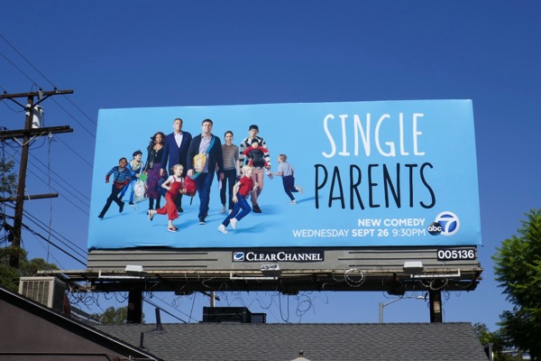 Single Parents series premiere billboard