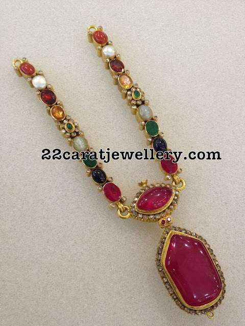 Navaratan Stones Necklace