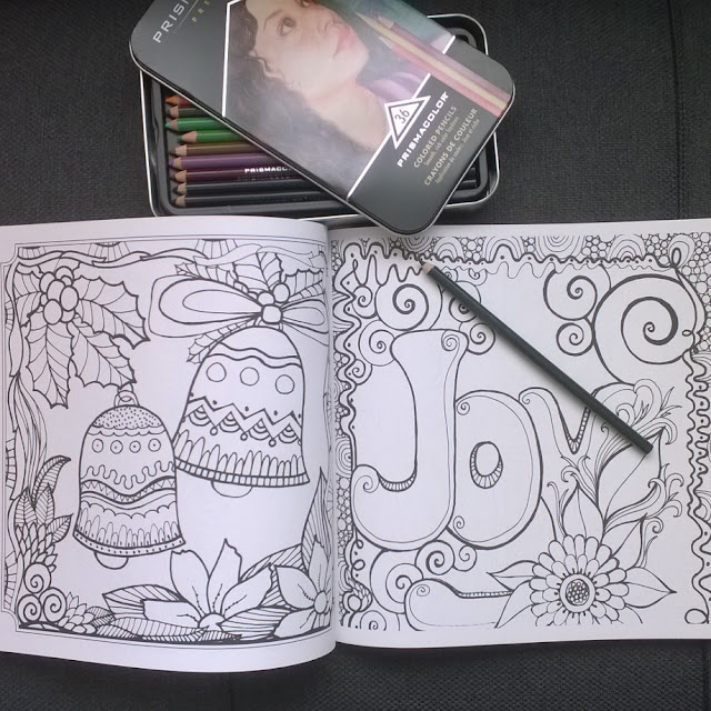 Inside of A Very Blessed Christmas Coloring Book.