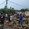 KSSD Lebak Bantu Bersihkan Sisa Material Banjir Bandang Cicurug Sukabumi