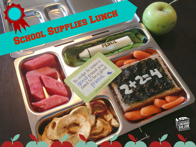 first day of school kids lunch