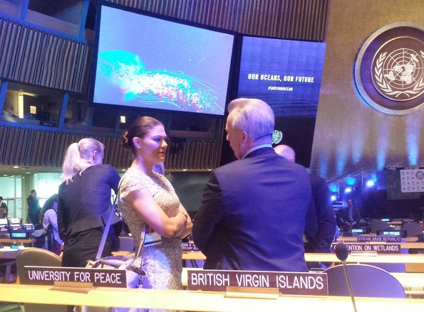"Crown Princess Victoria attended the ""The World Oceans Day"" event held at the United Nations Headquarters in New York"