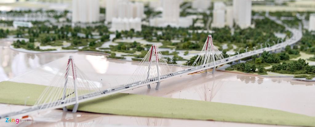 Hình ảnh cây cầu Tứ Liên trong quy hoạc khu đô thị mới Đông Anh