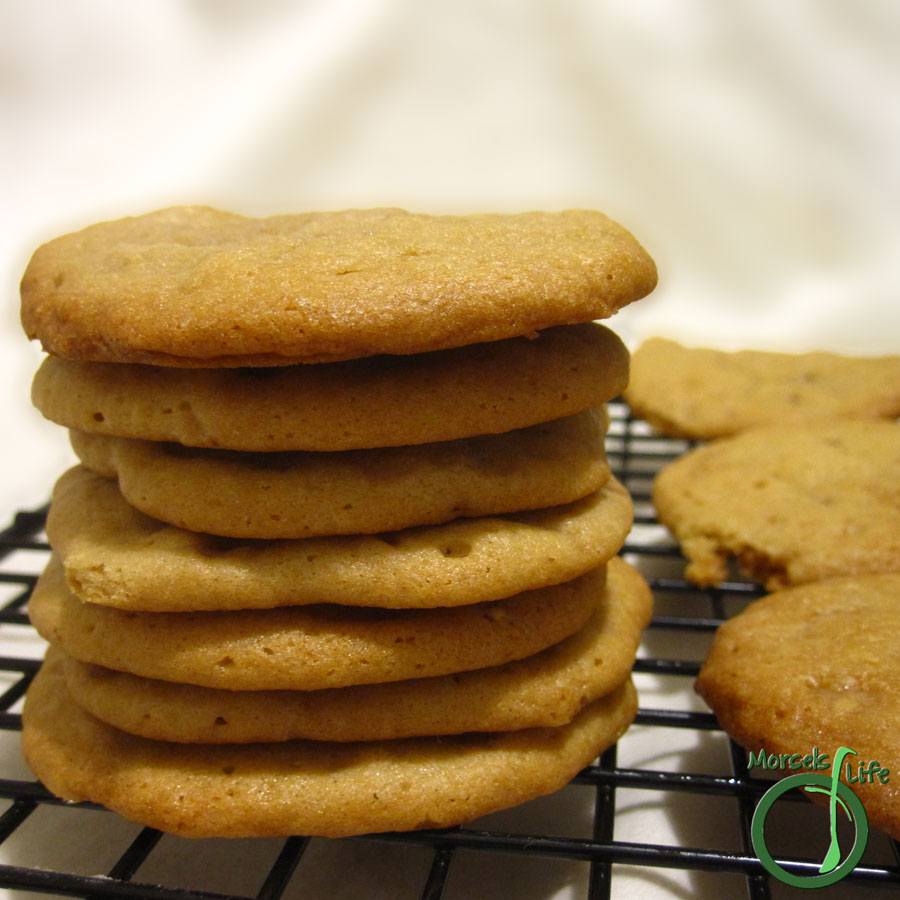 Morsels of Life - English Toffee Cookies - Soft cookies with buttery, nutty, English toffee chips.