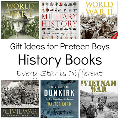 History Book Gift Ideas for Preteens