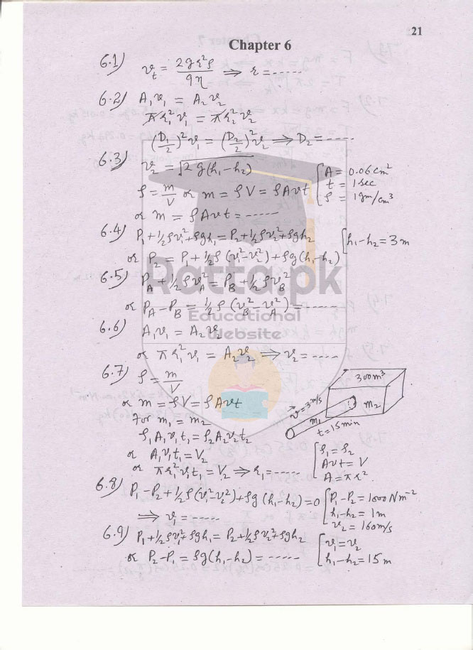 1st Year Physics Solved Numericals Kpk Board