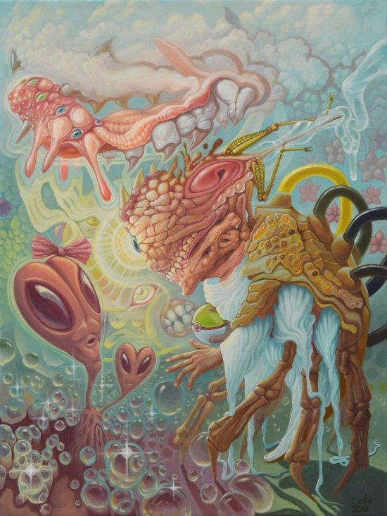 Cody Seekins arte pinturas surreais psicodélicas cores oníricas